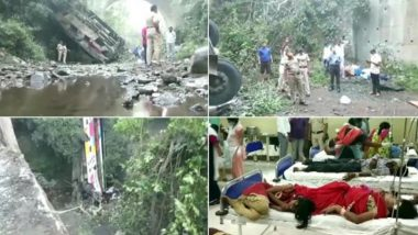 Maharashtra: 5 Dead, 35 Injured After Bus They Were Travelling in Fell Into a Gorge in Nandurbar, Rescue Operation Underway