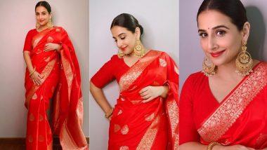 Vidya Balan's Rapturous Banarasi Weave Is Stunningly Affordable!