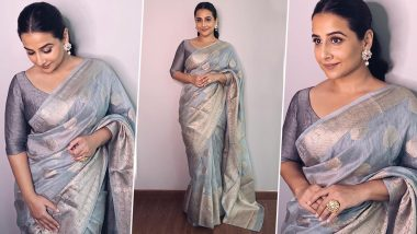 Vidya Balan Goes for an Effortlessly Chic and a Thrifty Saree Style!