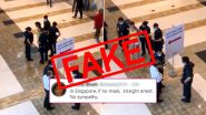 Fact Check: Woman Seen in Singapore Mall Video Was Not Arrested For 'Not Wearing Facemask', Know The Truth Behind the Viral Clip