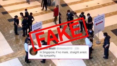Woman Seen in Singapore Mall Video Not Arrested For 'Not Wearing Facemask', Know The Truth