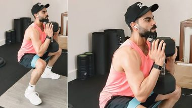 Virat Kohli Shares Picture From Workout Session Ahead of RCB vs KXIP Clash in Dream11 IPL 2020, Royal Challengers Captain Highlights Importance of Maintaining Routine