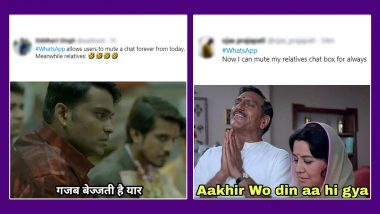 WhatsApp 'Always' Mute Option is Here and So Are The Funny Memes: Netizens Celebrate The Newest Feature of Messaging App With Jokes on Family Groups and Good Morning Messages