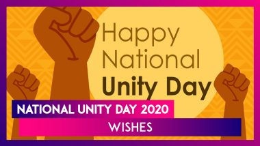 National Unity Day 2020 Wishes & Messages to Celebrate Birth Anniversary of Sardar Vallabhbhai Patel