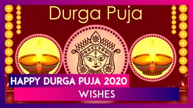 Happy Durga Puja 2020 Wishes, Images & Messages to Welcome Maa Durga During the Festival
