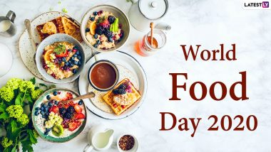 World Food Day Images And HD Wallpapers For Free Download Online: Wish Happy Food Day 2020 With WhatsApp Stickers and Facebook GIF Greetings on The Observance That Highlights Food Security