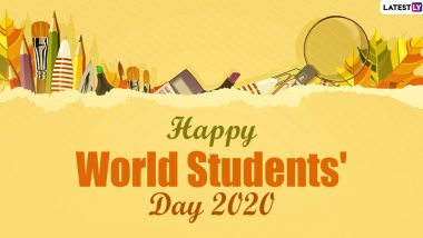 World Students' Day 2020 Wishes: WhatsApp Stickers, Facebook Greetings, GIF Images, Instagram Stories, SMS and Messages to Send Students