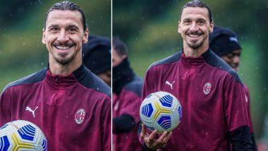 Zlatan Ibrahimovic Resumes Training After Recovering From COVID-19, Likely to Feature in Serie A 2020–21 Milan Derby (See Pic)
