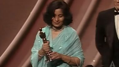 Bhanu Athaiya Dies at 91: See Costume Designer's Oscar-Winning Moment For Gandhi and the Reason She Returned Her Academy Award (Watch Video)