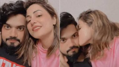 Hina Khan Kisses Boyfriend Rocky Jaiswal as They Reunite After Bigg Boss 14 and We're Here for the PDA (See Pics)