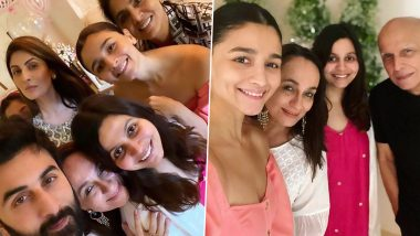 Ranbir Kapoor and Family Join Alia Bhatt as She Celebrates Mother Soni Razdan's Birthday (View Pics)