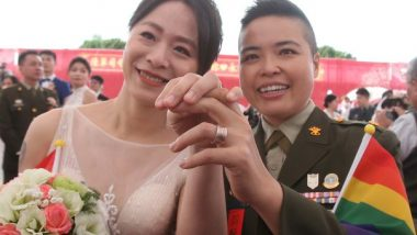 Two Same-Sex Couples Tie the Knot at a Mass Wedding Held by Taiwan's Military