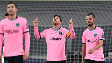 Lionel Messi Takes Barcelona to 2-0 Win Against Juventus in Champions League 2020-21, Scores Most Number of Goals in Group Stage