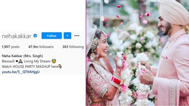 Neha Kakkar Adds Mrs Singh on Her Instagram Profile After Getting Married to Rohanpreet Singh