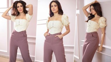 Nushrratt Bharucha Dishing Out Some Casual Fashion Goals with her New Outfit for Chhalaang Promotions (View Pics)