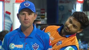 Rishabh Pant Videobombs Delhi Capitals Head Coach Ricky Ponting's Interview, Netizens React With Funny Memes (Watch Video)