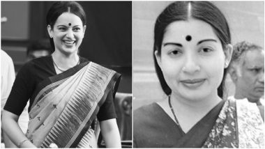 Kangana Ranaut Shares BTS Pics From The Sets Of Thalaivi, Actress' Uncanny Resemblance To Late Political Leader J Jayalalithaa Will Leave You Amazed
