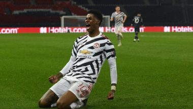 Marcus Rashford's Late Goal Inspires Manchester United to Win 2-1 Against Neymar's PSG in Champions League 2020-21 (Watch Video)