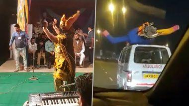 Ahead of Dussehra 2020, Funny Videos of Ravan Dancing at Ramlila in Punjab and Ravana Effigy Travelling on an Ambulance Go Viral