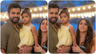 Rohit Sharma Lets His Hair Down With Daughter Samaira and Wife Ritika Sajdeh Ahead of IPL 2020 Game Against KKR (See Post)