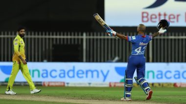 Shikhar Dhawan, Axar Patel Hailed by Netizens After The Duo Leads Delhi Capitals to 5-Wicket Win Over Chennai Super Kings (Read Tweets)