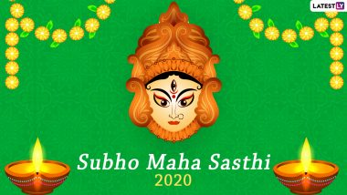 Durga Puja Subho Sasthi 2020 HD Photos, Wishes in Bengali, WhatsApp Stickers and GIF Greetings