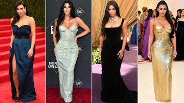 Kim Kardashian West Birthday Special: A Red Carpet Darling, She Knows How to Put Her Best Fashion Foot Forward (View Pics)