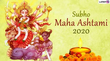 Subho Maha Ashtami 2020 Wishes in Bengali: Maa Durga WhatsApp Stickers, HD Images, Facebook Messages and Greetings to Celebrate Durga Ashtami