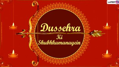 Dussehra 2020 Messages in Hindi: WhatsApp Stickers, HD Images of Lord Rama, Facebook Greetings, Instagram Captions and GIFs to Celebrate the Festival of Good Over Evil