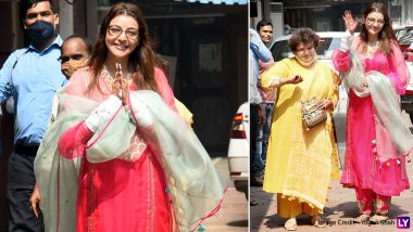 Kajal Aggarwal Poses For The Shutterbugs As She Leaves Her Residence For Her Grand Wedding! (View Pics)