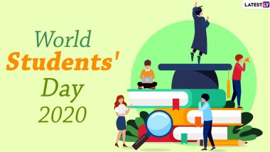 Happy World Students' Day 2020 Greetings: WhatsApp Stickers, Facebook Messages, HD Images, GIFs, SMS and Quotes to Send Vishwa Vidyarthi Divas Wishes