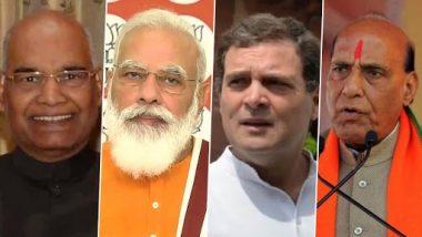 Dussehra 2020 Wishes: PM Narendra Modi, Rajnath Singh, Rahul Gandhi and Other Political Leaders Greet Nation on Vijayadashami