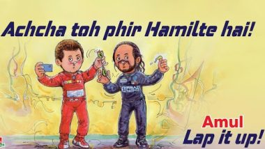 Amul Comes up With Latest Topical As Lewis Hamilton Beats Michael Schumacher's Record of Most F1 Wins