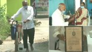 Dr Ramchandra Danekar, 87-Year Old Homoeopathic Doctor in Maharashtra's Chandrapur, Travels 10 km Barefoot Daily on Bicycle to Provide Treatment to Villagers Amid COVID-19; See Pics