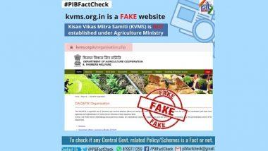 Kisan Vikas Mitra Samiti (KVMS) Providing Jobs Through Website Under Ministry of Agriculture? PIB Debunks Fake News