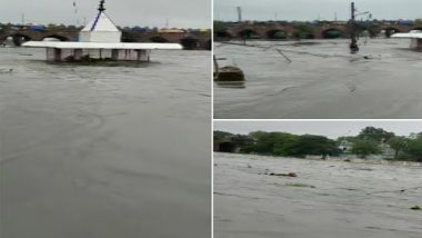 Telangana Rains: Normal Life Hit Due to Heavy Rainfall in State, Waterlogging and Flood-Like Situation Reported in Several Areas (Watch Video)