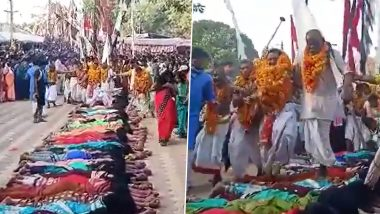 Chhattisgarh: Women Lay Down on Ground, Allow Priests to Walk on Them in Hope to Have Baby (Watch Video)