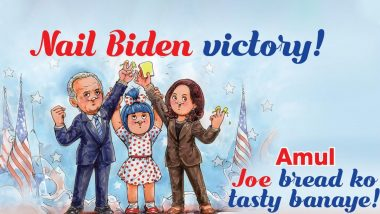 'Nail Biden Victory!' Amul's Topical Ad Celebrates Joe Biden & Kamala Harris' Victory in the US Presidential Election 2020 & the Pic is As Quirky As Always!
