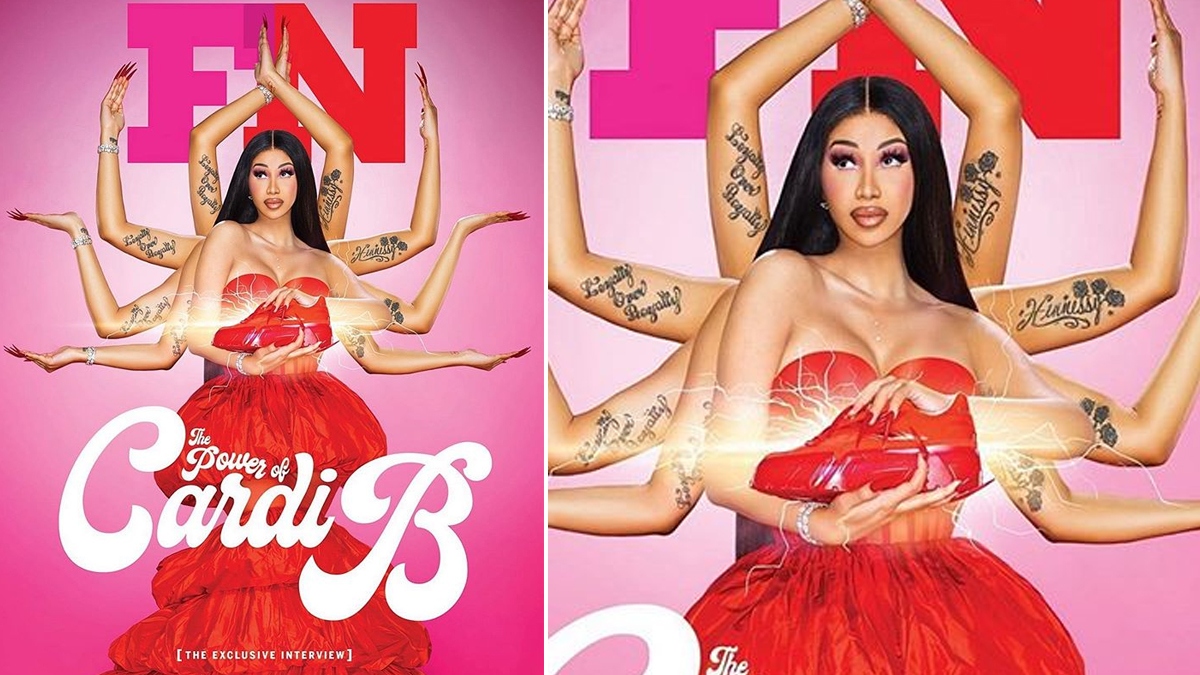 Viral News | Cardi B Pays Homage to Goddess Durga to Promote Her Reebok Sneaker Collection, Indians Are Unhappy | 👍 LatestLY