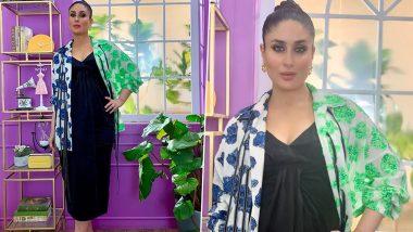 Yo or Hell No? Kareena Kapoor Khan's Black Midi Dress With Printed Jacket by Dhruv Kapoor