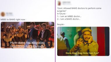 Ayurvedic PG Students Can Now Perform Surgery, Meanwhile MBBS Candidates Are Making Memes! Latest Notification by Union Govt Sparks Hilarious BAMS vs MBBS Jokes on the Internet