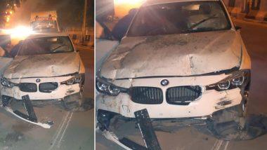 BMW Car Runs Over Cop in Delhi's Sarita Vihar, Driver Flees; Alcohol Found Inside Vehicle