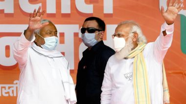 PM Narendra Modi Congratulates Nitish Kumar, Says NDA Family Will Work Together for Progress of Bihar