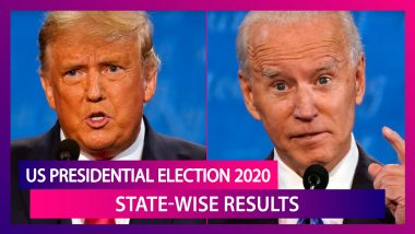 US Presidential Election 2020 Results: State-Wise Results As Donald Trump & Rival Joe Biden Fight It Out In Tight Race To The White House