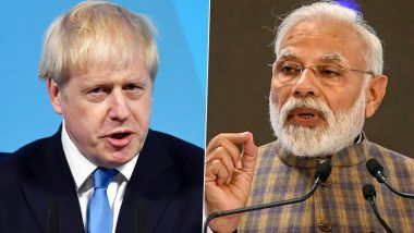 PM Narendra Modi Speaks to Boris Johnson on Defence, Climate Change, COVID-19, Tweets 'Discussed Ambitious Roadmap for India-UK Ties'