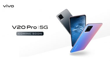 Vivo V20 Pro Smartphone Teased Online Ahead of India Launch