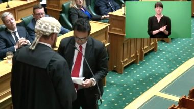 Gaurav Sharma, Newly-Elected New Zealand MP, Pays Homage to Indian Roots With Oath in Sanskrit (Watch Video)