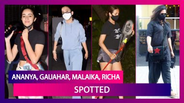 Ananya Panday, Gauhar Khan & Zaid Darbar Return From Their Dubai Trip; Malaika Arora Plays Cricket With Son Arhaan Khan; Richa Chadha & Ali Fazal Move In Together