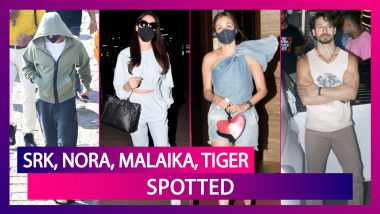 Shah Rukh Khan At Gateway Of India, Sports Hoodie & Mask; Nora Fatehi At The Airport; Malaika Arora, Tiger Shroff, Ishaan Khatter Spotted In The City