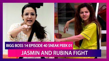 Bigg Boss 14 Episode 40 Sneak Peek 01| Nov 26 2020: Jasmin and Rubina Fight